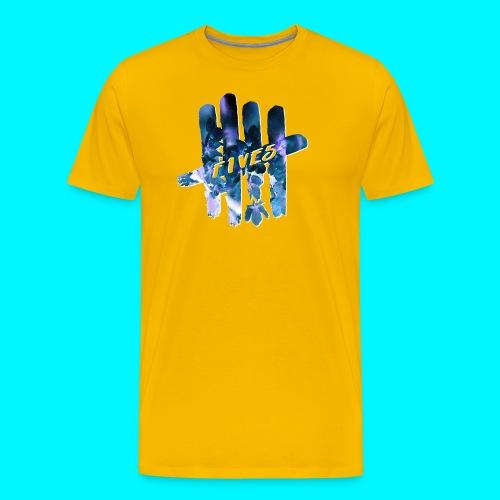 FIVES space flowers - T-shirt Premium Homme