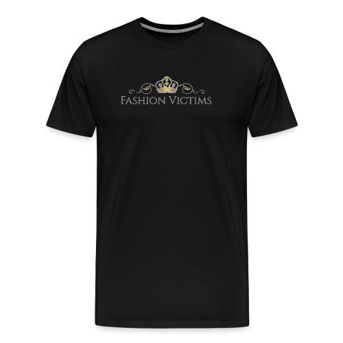 Official Fashion Victims Logo Gold/Silver - Mannen Premium T-shirt