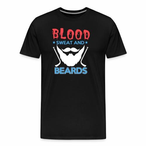 Blood Sweat And Beards - Men's Premium T-Shirt