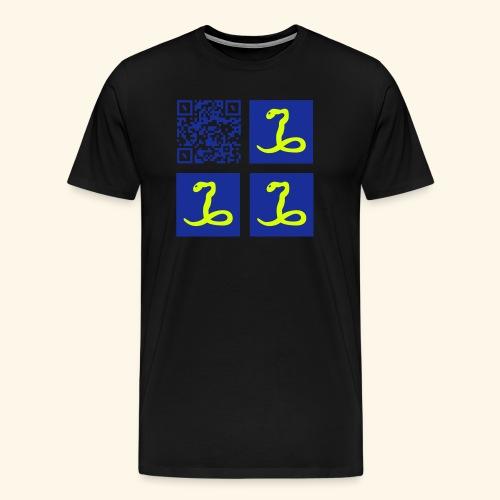 qr code flag martinique28 - T-shirt Premium Homme