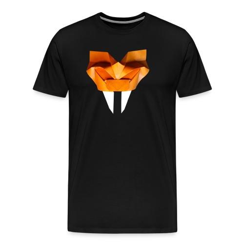 Origami Saber Toothed Tiger Mask - Origami Tiger - Men's Premium T-Shirt