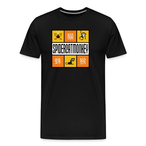 Band-Logo SPIDERCATMONKEY, orange - Männer Premium T-Shirt
