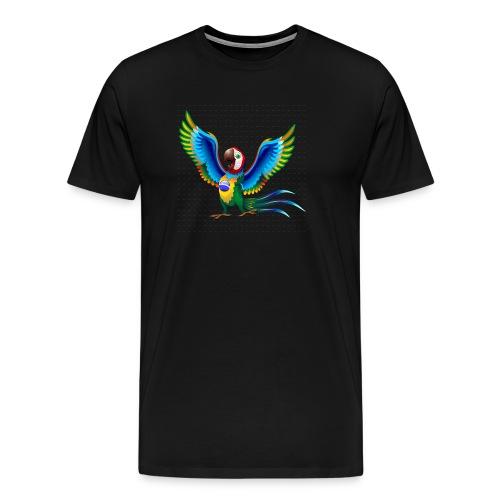 Brazil Flag Papagei - Männer Premium T-Shirt