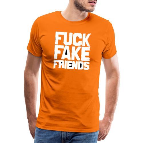 FUCK FAKE FRIENDS - Koszulka męska Premium