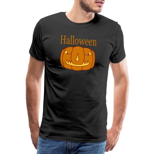 Halloween Kürbis mit Gruselmaske - Männer Premium T-Shirt