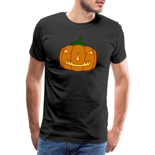 Halloween Kürbis mit Gruselgesicht - Männer Premium T-Shirt