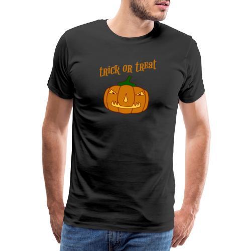 Halloween trick or treat und Kürbis - Männer Premium T-Shirt