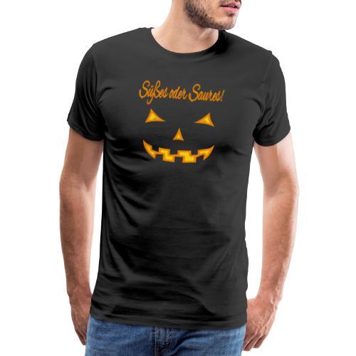 Süßes oder Saures mit Kürbisgesicht - Männer Premium T-Shirt