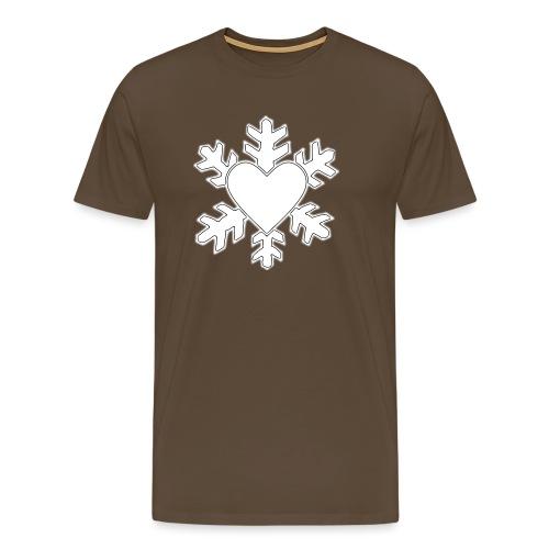 Flocon coeur 3D - T-shirt Premium Homme