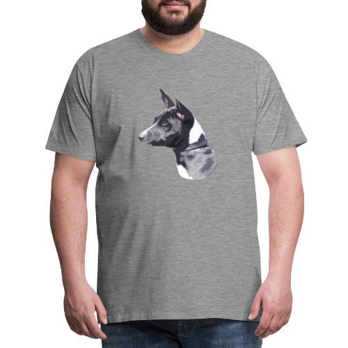 basenji black - Herre premium T-shirt