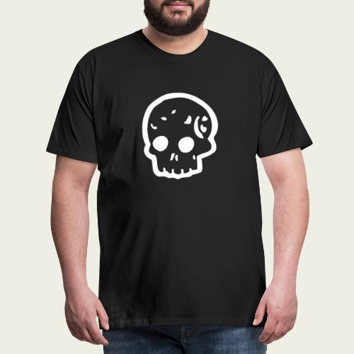 Skull logo whi - Camiseta premium hombre