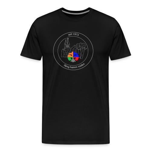 T Shirt Logo weiss trans ohne rand - Männer Premium T-Shirt