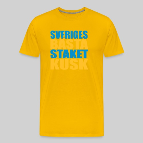 Sveriges bästa staketkusk! - Premium-T-shirt herr