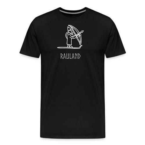 Rauland Med Ullr På Ski - Premium T-skjorte for menn