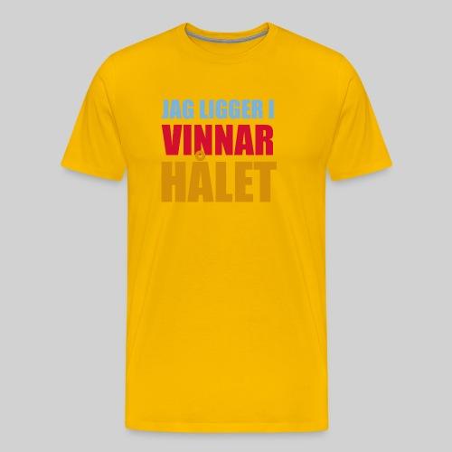 jag ligger i vinnarhalet - Premium-T-shirt herr