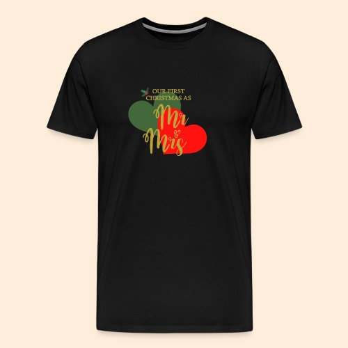 Our First Christmas As... - Camiseta premium hombre