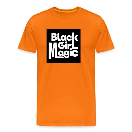 Black Girl Magic 2 White Text - Men's Premium T-Shirt