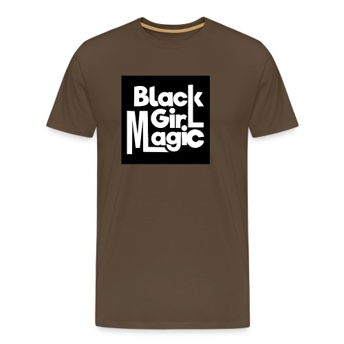 Black Girl Magic 2 White Text - Men's Premium T-Shirt