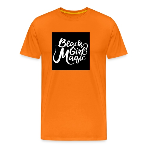 Black Girl Magic 1 White Text - Men's Premium T-Shirt