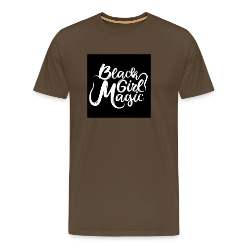 Black Girl Magic 1 White Text - Men's Premium T-Shirt