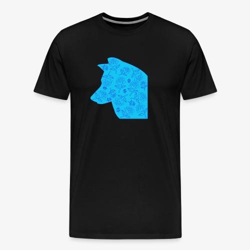 Wolf of Roses - Men's Premium T-Shirt