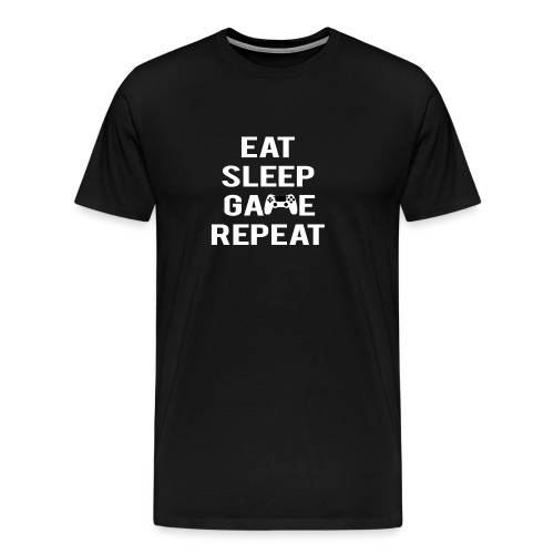 Eat, sleep, game, REPEAT - Men's Premium T-Shirt