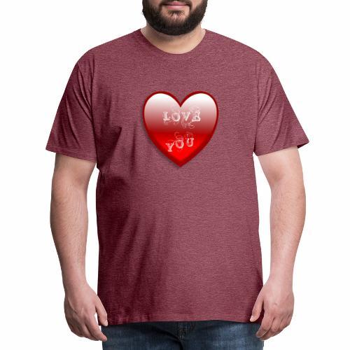 Love You - Männer Premium T-Shirt