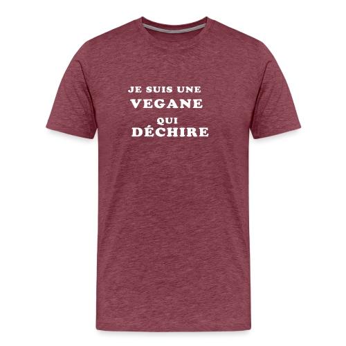 Je suis une vegane qui déchire - T-shirt Premium Homme