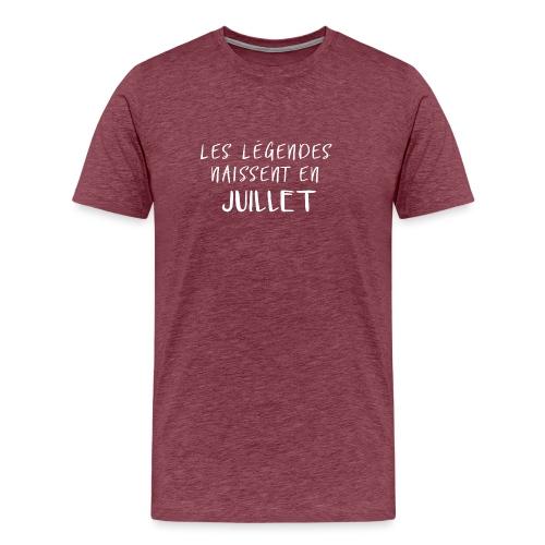 LES LÉGENDES NAISSENT EN JUILLET - T-shirt Premium Homme