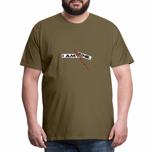 I AM FINE Design mit Schnitt, Depression, Cut - Männer Premium T-Shirt