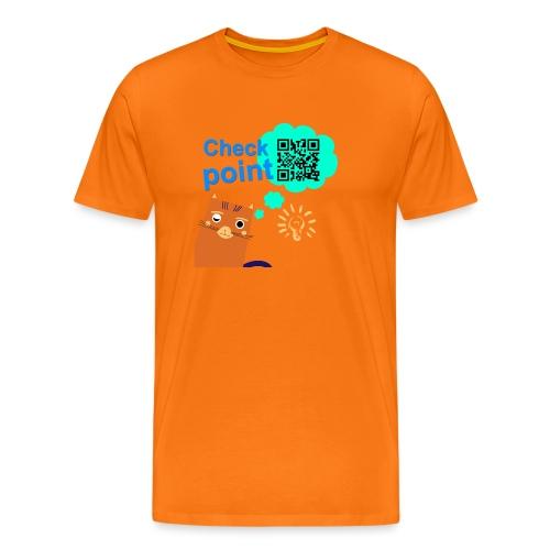 Duna Checkpoint - Premium T-skjorte for menn