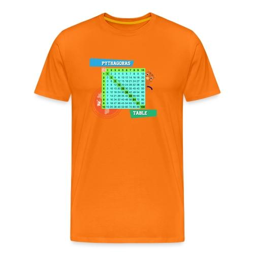 Pythagoras table - Premium T-skjorte for menn