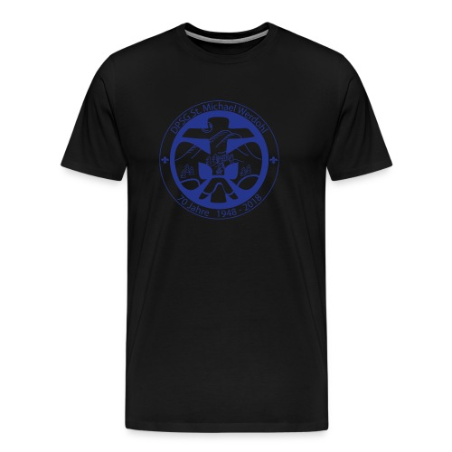 Logo Jubi Rund Blau - Männer Premium T-Shirt