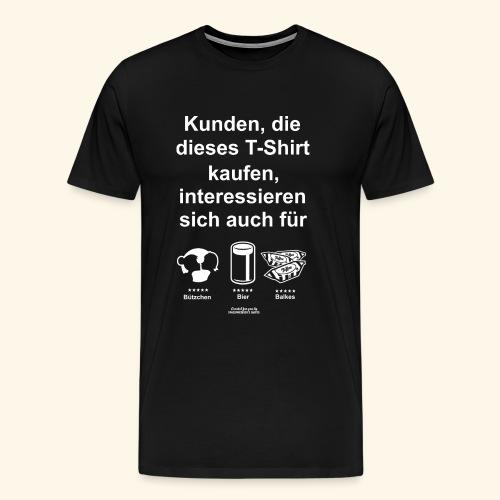 Karneval T Shirt Düsseldorf   Bier, Bützchen - Männer Premium T-Shirt