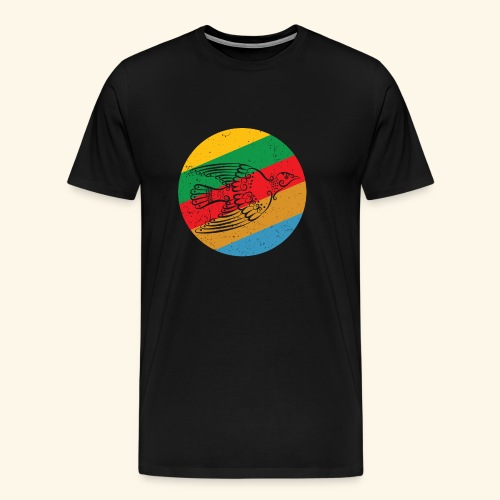 Grenadian Dove Retro - Men's Premium T-Shirt