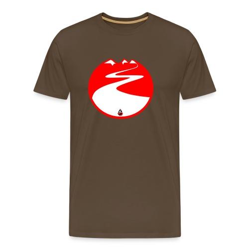 Montagne rouge - T-shirt Premium Homme