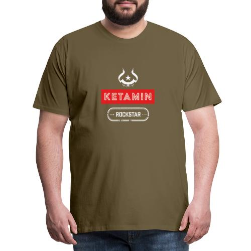 KETAMIN Rock Star - Weiß/Rot - Modern - Men's Premium T-Shirt