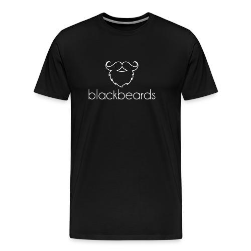 Blackbeards Logo_weiß - Männer Premium T-Shirt