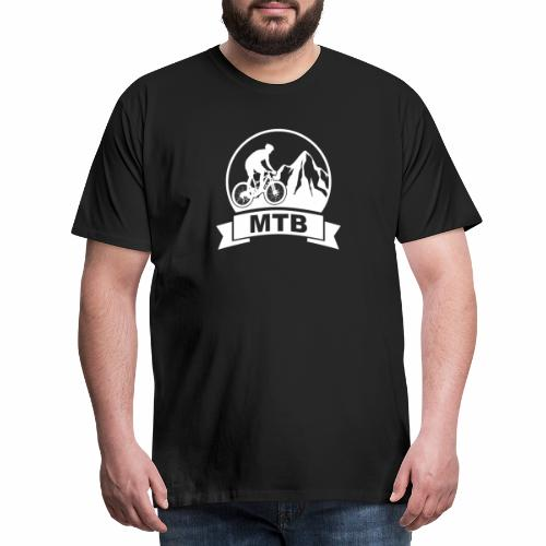 Mountainbike - Transalp - white - Männer Premium T-Shirt