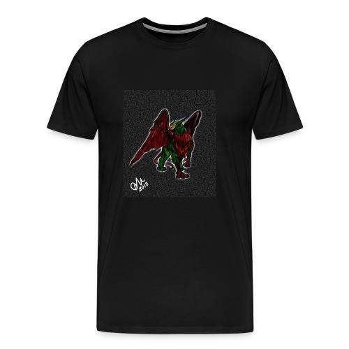 Grifone verde-rosso - Maglietta Premium da uomo