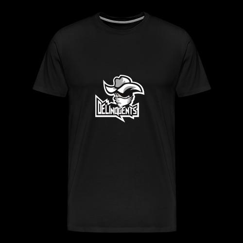 Delinquents Sort Design - Herre premium T-shirt