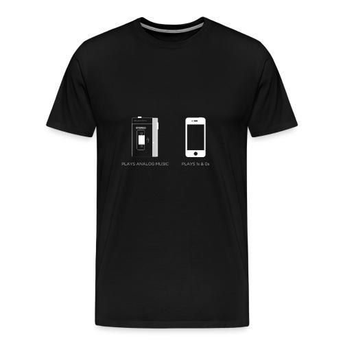 walkman analog - phone 1&0s - Men's Premium T-Shirt