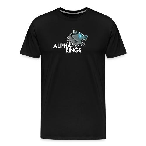 logo Alpha Kings white - T-shirt Premium Homme