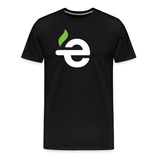 E logo white on black - Mannen Premium T-shirt