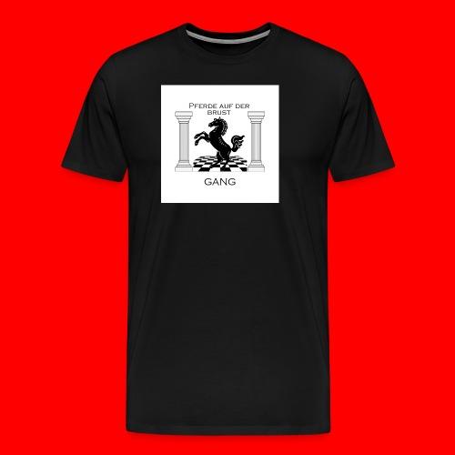 Pferde Auf Der Brust Gang - Männer Premium T-Shirt
