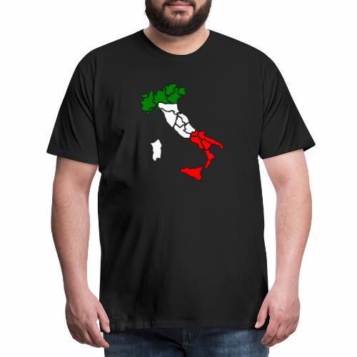 Karte von Italien - Männer Premium T-Shirt
