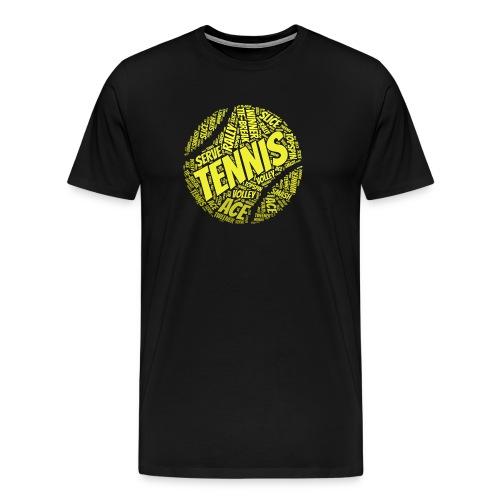 Tennisball Typo-Style - Männer Premium T-Shirt