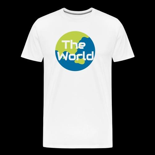 The World Earth - Herre premium T-shirt