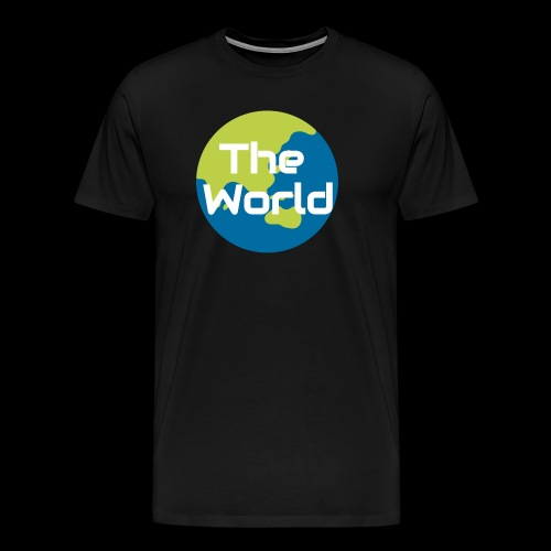 The World Earth - Herre premium T-shirt