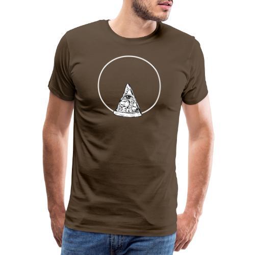 All sehendes Auge Pizza (weißer Druck) - Männer Premium T-Shirt